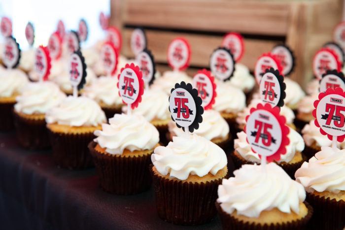 75th anniversary cupcakes